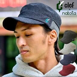 ナコタ お買い物マラソン期間送料無料! nakota ナコタ × clef クレ エクストラパイル リブ ワークキャップ 帽子 キャップ メンズ レディース