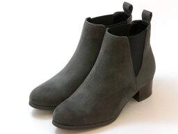 ジェリービーンズ ≪20% OFF SALE≫JELLY BEANS ジェリービーンズサイドゴア ショートブーツ(グレースエード)レディース シューズ 靴セール品につき返品・交換・キャンセル不可