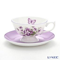 エインズレイ ティーカップ エインズレイ イングリッシュバイオレット ティーカップ&ソーサー(アセンズ) 200ml おしゃれ かわいい 食器 ブランド 結婚祝い 内祝い