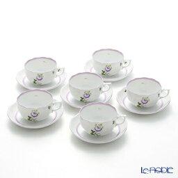 ヘレンド ヘレンド(HEREND) ウィーンのバラ ライラック 00724-0-00 ティーカップ&ソーサー 200cc 6客セット 食器セット お祝い 結婚祝い ブランド 内祝い