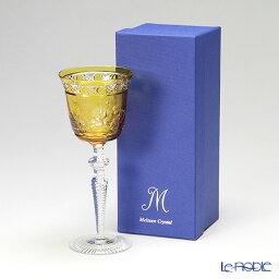 マイセン 【送料無料】マイセン(Meissen) マイセンクリスタル ロンドンフラワー ワイングラス 20.9cm(アンバー) MFO/3517/2AB【楽ギフ_包装選択】【楽ギフ_のし宛書】