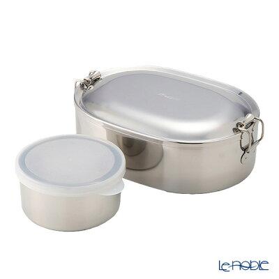 【ポイント10倍】シーガル オーバルランチボックス 弁当箱 ステンレス 16cm(730ml) 【デザートカップ付】 キッチン 用品 雑貨 調理