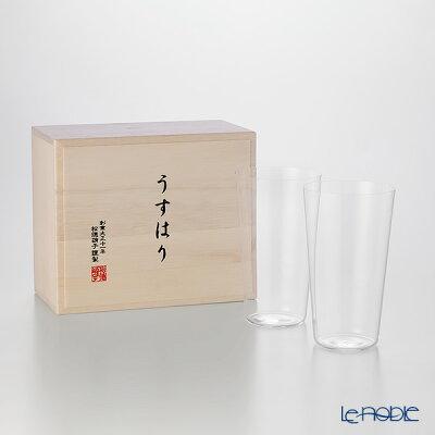 【ポイント10倍】松徳硝子 うすはり タンブラー(M) ペア 【木箱入】 ギフト 酒器 うすはりグラス 食器 ブランド 結婚祝い 内祝い