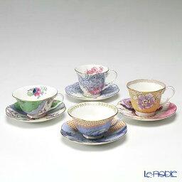 ウェッジウッド ティーカップ ウェッジウッド (Wedgwood) バタフライブルーム ティーカップ&ソーサー 4客セット ウエッジウッド お祝い ギフト コーヒーカップ 食器