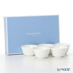 ウェッジウッド ティーカップ ウェッジウッド (Wedgwood) インタグリオ ジャパニーズティーカップ 150cc 5客セット 【ブランドボックス付】 ウエッジウッド 結婚祝い 内祝い お祝い 白 食器セット