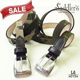 サドラーズ saddler's(サドラーズ)/レザーベルト/迷彩柄/スウェードベルト/カジュアル/イタリア製/専用ケース付き