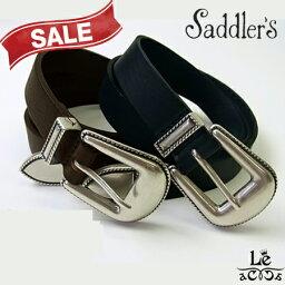 サドラーズ saddler's(サドラーズ)/グレインレザーベルト/ウエスタンベルト/プンターレ/専用ケース付き