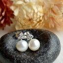 ルコリエ ピアス 7mm淡水真珠czピアス キラキラ&まろやかな煌めきのコンビネーション KA60