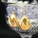 ルコリエ ピアス メタリック バロック 淡水真珠 ピアス/イヤリング 虹色浮かぶ花びらのような個性的なパール ケシ