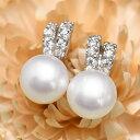 ルコリエ ピアス ホワイト淡水真珠 ジルコニア ピアス てりてりキラキラ♪ キュートで使いやすい KA60