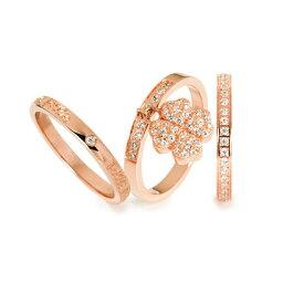 フォリフォリ 指輪 フォリフォリ Folli Follie FS H4H クローバーパヴェ リング (ピンクゴールド)