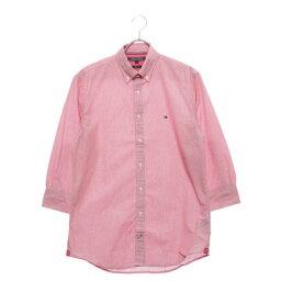 トミーヒルフィガー 【アウトレット】トミーヒルフィガー TOMMY HILFIGER ストライプドビーコットンシャツ (ピンク)