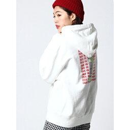 エックスガール 【アウトレット】X-girl RETROPHONESWEATHOODIE WHITE