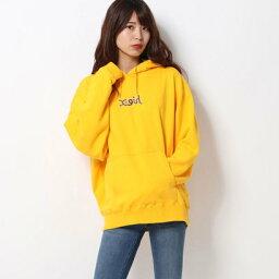 エックスガール エックスガール X-girl LEOPARD LOGO SWEAT HOODIE (YELLOW)