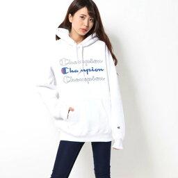 エックスガール エックスガール X-girl X-girl x CHAMPION SWEAT HOODIE (WHITE)