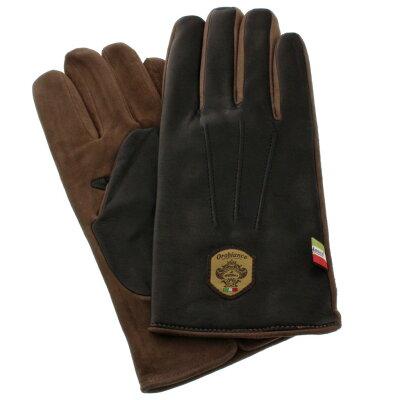 【52時間限定ポイント5倍】Orobianco オロビアンコ 手袋 メンズ ORM-1531 NAPPA SUEDE ブラック/モカ 8 (23cm)