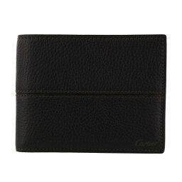 カルティエ 財布(メンズ) Cartier カルティエ 二つ折り財布 メンズ サドルステッチ ブラウン L3001262 エボニー