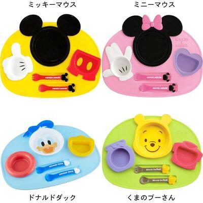 日本製 ディズニー アイコン ランチプレート ミッキーマウス ミニーマウス くまのプーさん ドナルドダック ベビー食器【あす楽A】錦化成