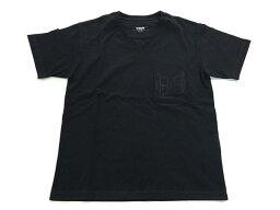 エルメス HERMES エルメス メンズ Vネック 半袖 Tシャツ ブラック 黒 コットン #36【新品】【あす楽対応】