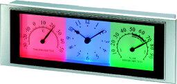 温湿時計 置き時計 アデッソ製 アナログ TC-1114 LED温湿時計