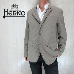 ヘルノ HERNO ヘルノ メンズ コート ステンカラーコート ナイロン 2WAY ジャケット アウター GA006U/グレージュ サイズ:50