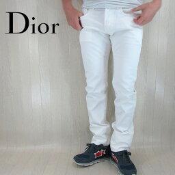 ディオールオム Dior Homme ディオールオム デニム ジーンズ メンズ パンツ ホワイトデニム スキニー 433D020Y Y127/ホワイト サイズ:29/30/31/33/34
