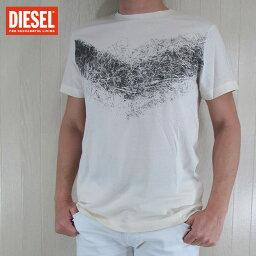 ディーゼル ディーゼル DIESEL メンズ トップス半袖 Tシャツ カットソー クルーネック T-DIEGO-HL/129/アイボリー サイズ:S〜XL