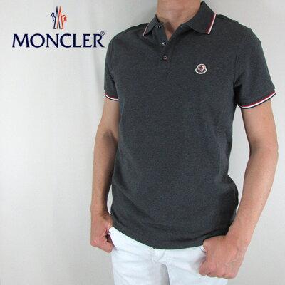 モンクレール MONCLER メンズ ポロシャツ 半袖 トップス 8345600 84556 / 988 / グレー サイズ:XS〜XXL