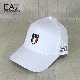 アルマーニ イーエーセブン EA7 EMPORIO ARMANI キャップ ベースボール キャップ イタリア代表公認モデル 275791 CC914 / 0010 / ホワイト 白