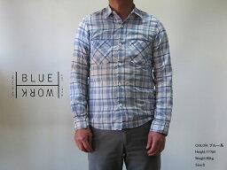 トゥモローランド TOMORROWLAND/Blue Work(メンズ トゥモローランド) コットンナイロンチェック レギュラーカラーシャツ
