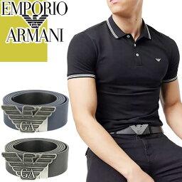 アルマーニ ベルト(メンズ) エンポリオアルマーニ EMPORIO ARMANI ベルト メンズ 本革 カジュアル ブランド ビジネス おしゃれ ゴルフ 黒 リバーシブル 回転式バッグル プレゼント 男性 Y4S270 YLP4X [S]