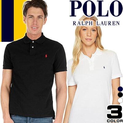 ポロ ラルフローレン ポロシャツ 半袖 メンズ レディース ブランド シンプル かわいい ワンポイント 白 黒 紺 ホワイト ブラック ネイビー Polo Ralph Lauren [メール便発送]