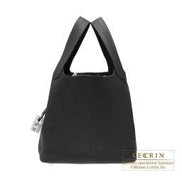 エルメス ピコタン バッグ(レディース) エルメス ピコタンロックPM ブラック トリヨンクレマンス シルバー金具 HERMES Picotin Lock bag PM Black Clemence leather Silver hardware