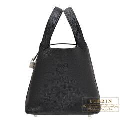 エルメス ピコタン バッグ(レディース) エルメス ピコタンロックMM ブラック トリヨンクレマンス シルバー金具 HERMES Picotin Lock bag MM Black Clemence leather Silver hardware