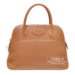 ハンドバッグ エルメス ボリード31 ゴールド トリヨンクレマンス シルバー金具 HERMES Bolide bag 31 Gold Clemence leather Silver hardware