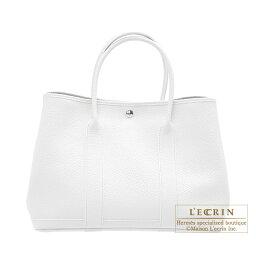 ハンドバッグ エルメス ガーデンパーティPM ホワイト カントリー シルバー金具 HERMES Garden Party bag PM White Country leather Silver hardware