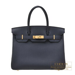 エルメス バーキン バッグ(レディース) エルメス バーキン30 ブルーニュイ トゴ ゴールド金具 HERMES Birkin bag 30 Blue nuit Togo leather Gold hardware