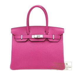 エルメス バーキン バッグ(レディース) エルメス バーキン30 ローズパープル トゴ シルバー金具 HERMES Birkin bag 30 Rose purple Togo leather Silver hardware