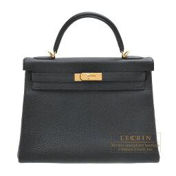 ケリー エルメス ケリー32/内縫い ブラック トゴ ゴールド金具 HERMES Kelly bag 32 Retourne Black Togo leather Gold hardware