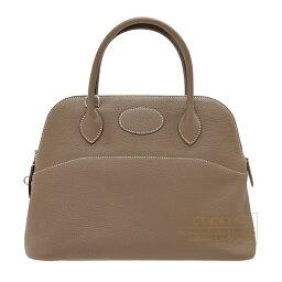 ボリード エルメス ボリード31 エトゥープ トリヨンクレマンス シルバー金具 HERMES Bolide bag 31 Etoupe grey Clemence leather Silver hardware