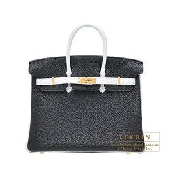 エルメス バーキン バッグ(レディース) エルメス パーソナルバーキン25 ブラック/ホワイト トリヨンクレマンス ゴールド金具 HERMES Personal Birkin bag 25 Black/White Clemence leather Gold hardware