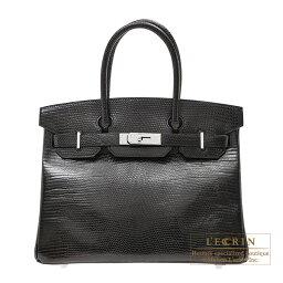 エルメス バーキン バッグ(レディース) エルメス バーキン30 ブラック リザード シルバー金具 HERMES Birkin bag 30 Black Lizard skin Silver hardware