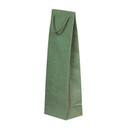ボトルキャリーバッグ ペーパーボトルバッグ グリーン 10個セット/品番:YW003GR【ギフト用 ワインボトルバッグ】