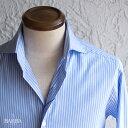 BARBA【バルバ】 DANDY LIFE(ダンディーライフ) コットン ストライプシャツ ・mod. NEW BRUNO ・art. LIU736U07476U ・col. blue stripe (ブルーストライプ) ・made in Italy