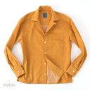 BARBA【バルバ】 DANDY LIFE(ダンディーライフ) ビッグシルエット オープンカラーシャツ ・mod. PB OVER ・art. PBOVU07581U ・col. mustard yellow (マスタードイエロー) ・made in Italy