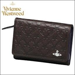 ヴィヴィアンウエストウッド 二つ折り財布(レディース) ヴィヴィアンウエストウッド 財布 ヴィヴィアン バッグ Vivienne Westwood ヴィヴィアン ウエストウッド モノグラム LF札入 ダークブラウン