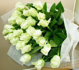 ボリュームたっぷり花束 白いバラの花束 20本 生花(お祝い プレゼント ばら 薔薇 還暦祝い フラワーギフト 男性 女性 誕生日 結婚祝い 結婚記念日 結婚式 ボリューム バレエ発表会 ホワイトデー お返し)