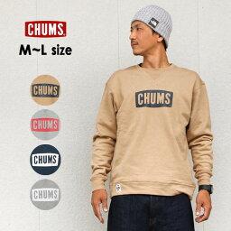チャムス 【メール便不可】チャムス CH00-1145-MG Logo Crew Top Sweat Shirt ロゴクルートップスウェットシャツ メンズ トップス 長袖 トレーナー 裏起毛 アウトドア CHUMS 1000916
