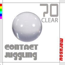 ボール クリスタルボール70mmクリアー【ナランハ】ジャグリング,大道芸,水晶玉,クリアー球,コンタクトボール