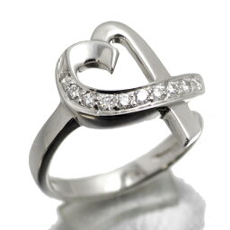 ティファニーのイヤリング(レディース) ティファニー TIFFANY&Co. K18WG ラビングハートダイヤダイヤリング  #9